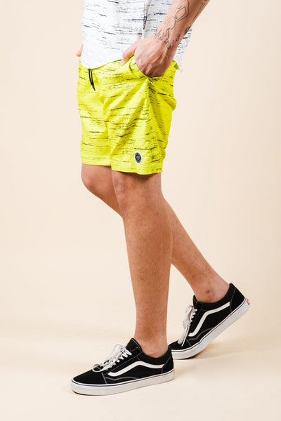 Yellow Streaky Swim Trunks