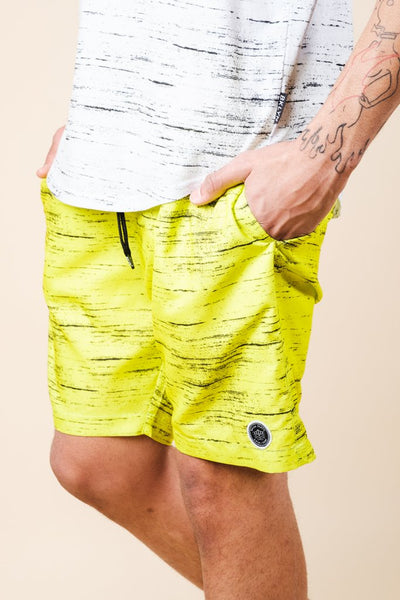 Brooklyn Cloth Yellow Streaky Swim Trunks