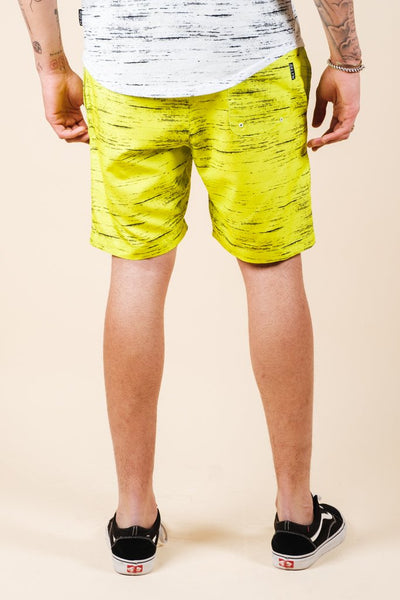 Brooklyn Cloth Yellow Streaky Swim Trunks for men