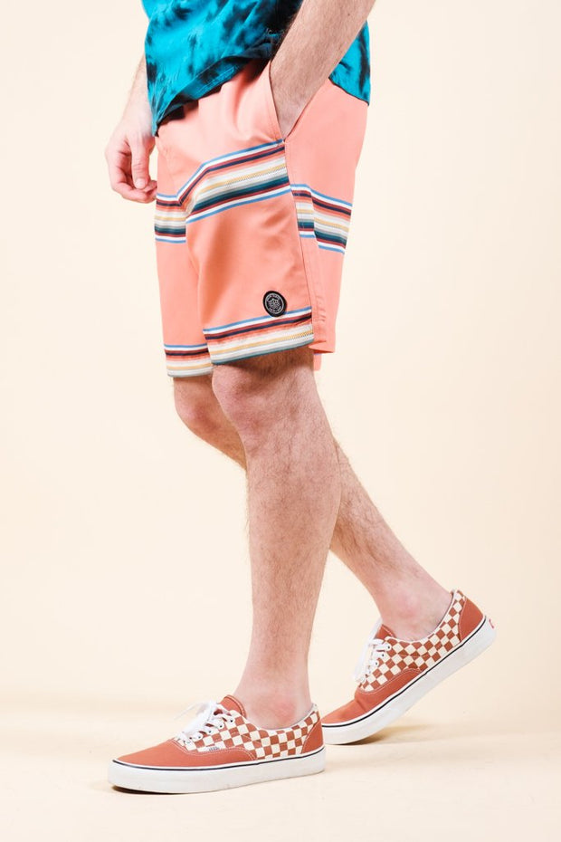 Multi Striped Swim Trunks for Men