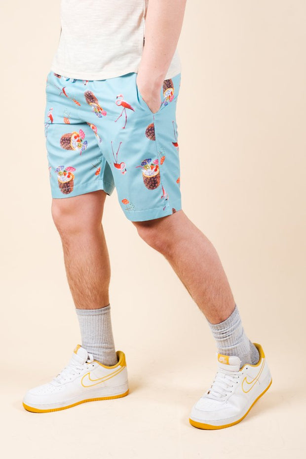 Vacation Theme Swim Trunks
