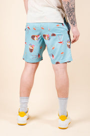 Brooklyn Cloth Tropical Theme Swim Trunks for Men