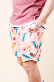 Pink Tiki Drink Swim Trunks for Summer