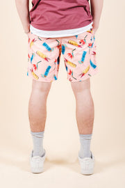 Brooklyn Cloth Pink Tiki Drink Swim Trunks