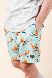 Brooklyn Cloth Birds of Paradise Swim Trunks