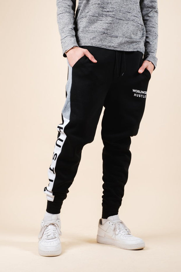 Hustle Color Blocked Jogger Pants for Men