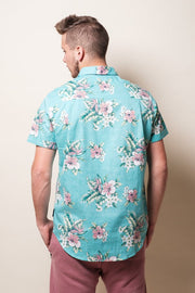 Brooklyn Cloth Mint Floral Woven Shirt