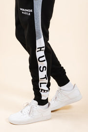 Men's Hustle Color Blocked Jogger Pants