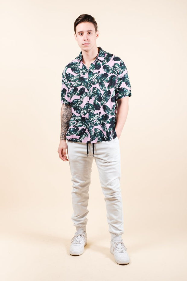Brooklyn Cloth Shop the Palm Tree Leaves Woven Shirt for Men