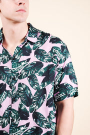 Shop the Palm Tree Leaves Woven Shirt