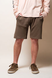 Men's Olive Green Knit Jogger Shorts | Brooklyn Cloth