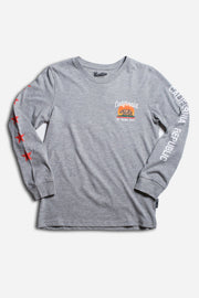 Boys California Golden State Long Sleeve Tee in Grey