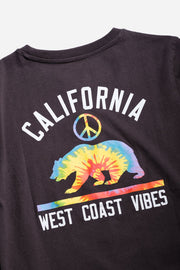 Boys California Vibes Long Sleeve Tee in Dusty Black