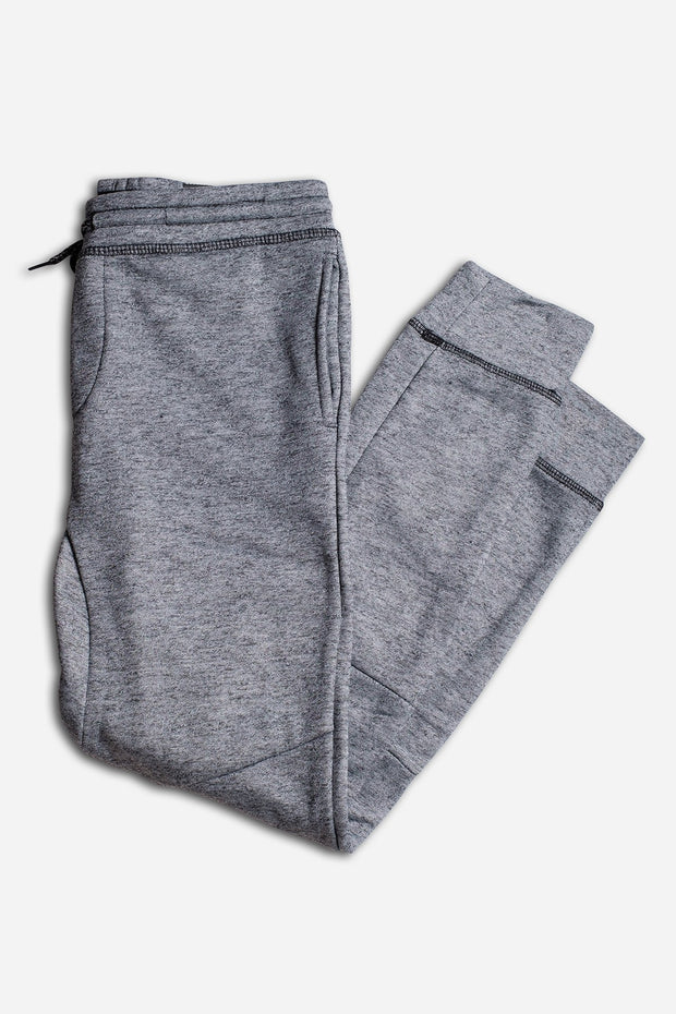 Boys Black Marl Fleece Jogger Pants