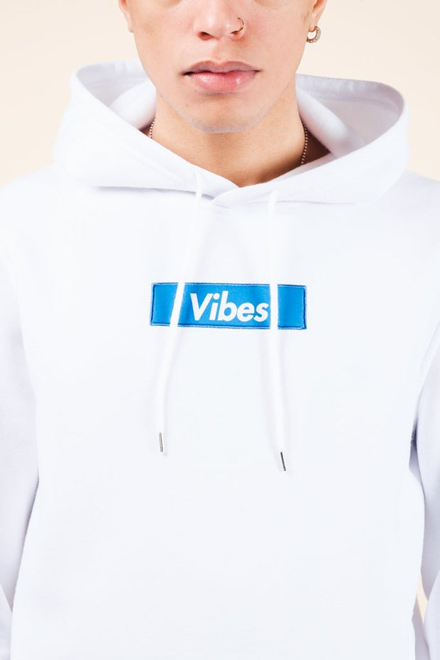 White Vibes Checkered Hoodie for Men