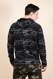 Brooklyn Cloth Black Streaky Jersey Hoodie