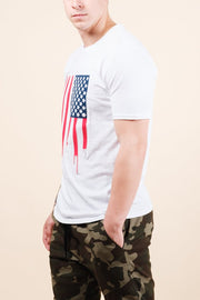 Brooklyn Cloth American Flag Dripping Tee