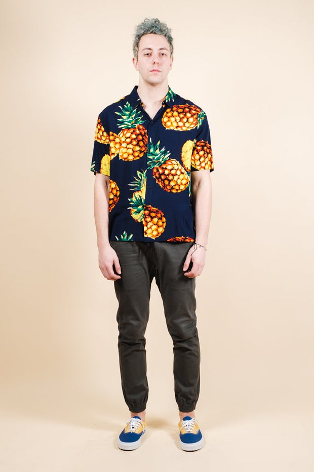 Brooklyn Cloth Exploded Pineapple Woven Shirt for Men