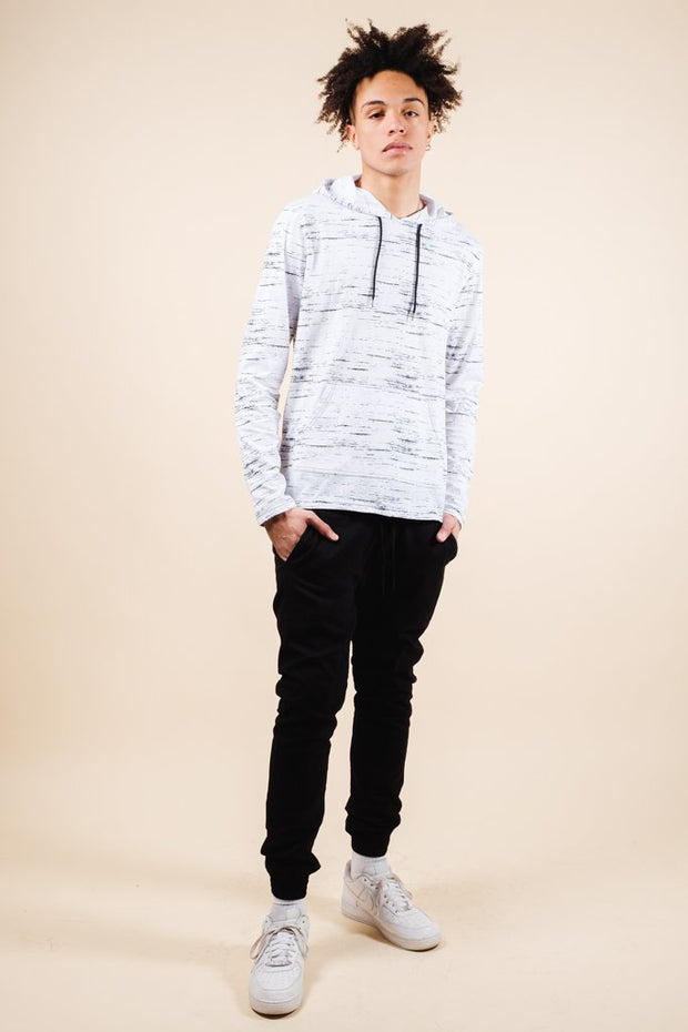 Brooklyn Cloth White Streaky Jersey Hoodie