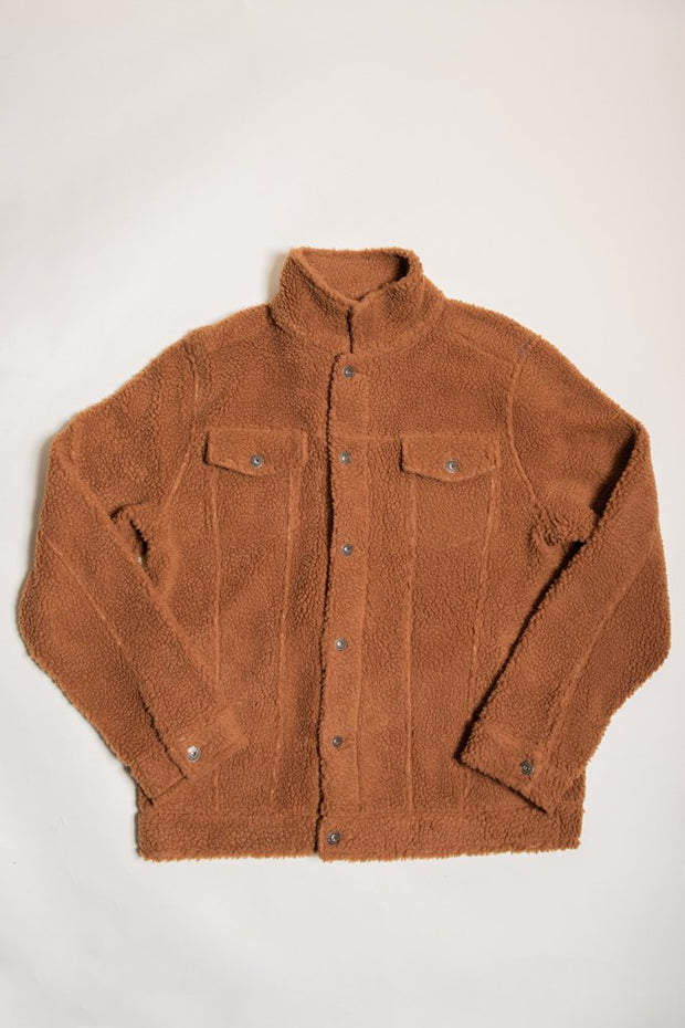Men's Tobacco Sherpa Trucker Jacket