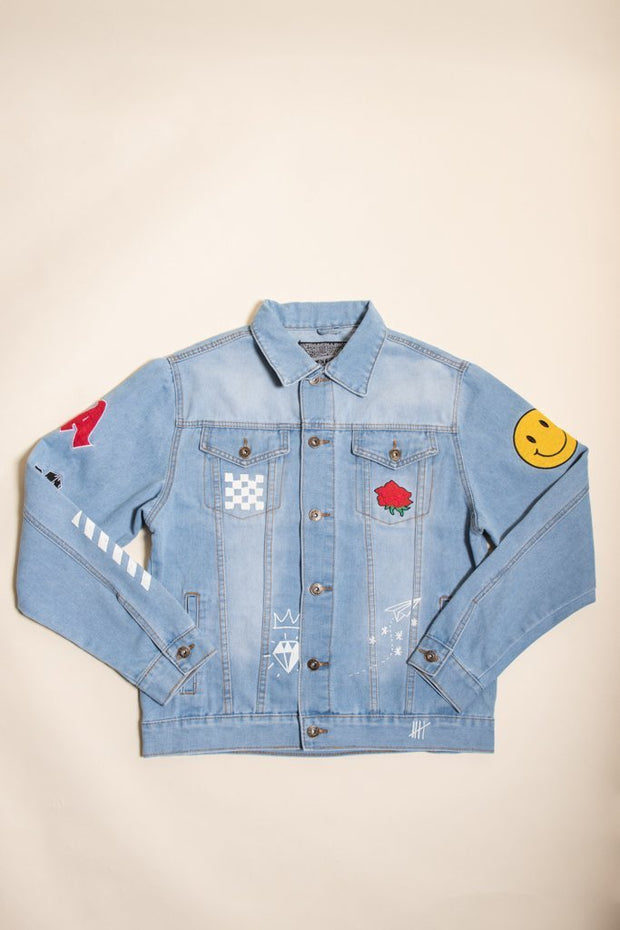 Men's No Bad Vibes Denim Jacket