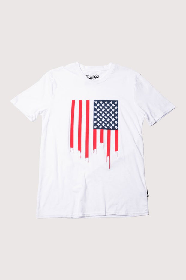 American Flag Dripping Tee Shirt