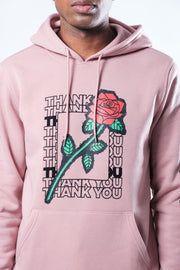 Dusty Rose Thank You Rose Hoodie
