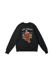 Getting in the holiday spirit? Shop our Women's Black Oh Snap Sweatshirt from Brooklyn Cloth.