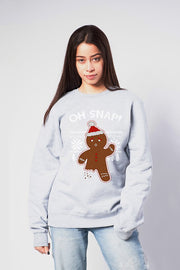 Women's Grey Oh Snap Sweatshirt