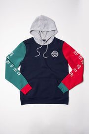 Hustle Color Block Hoodie for Men