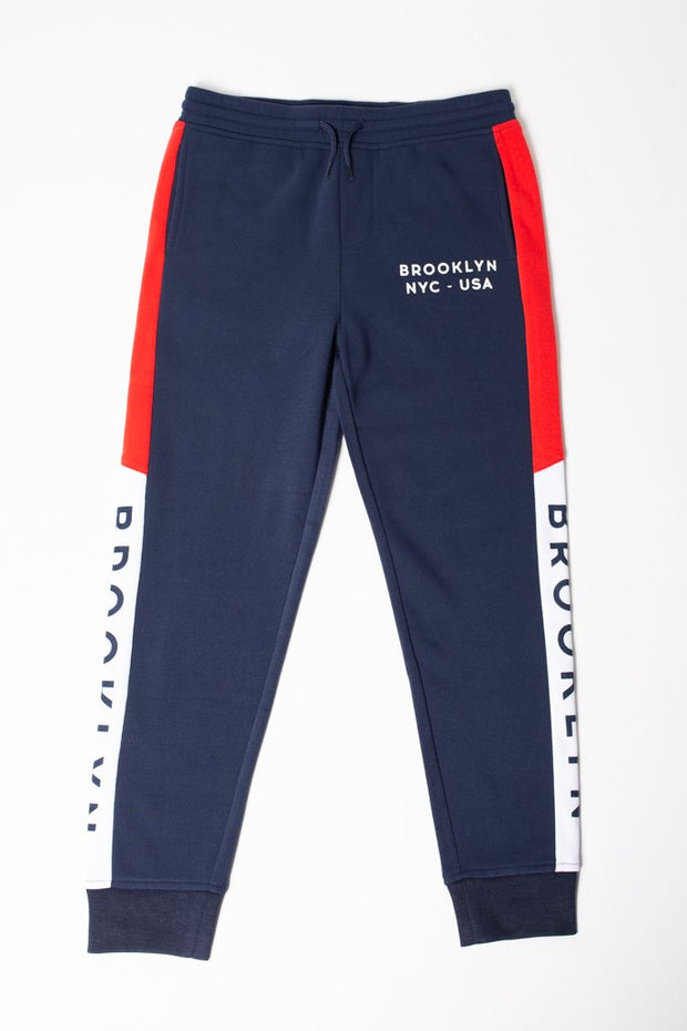 Boys Brooklyn Color Blocked Jogger Pants