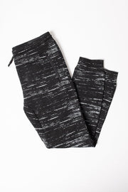 Boys Black Streaky Fleece Jogger Pants