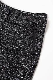 Boys Black Printed Space Dye Fleece Jogger Pants