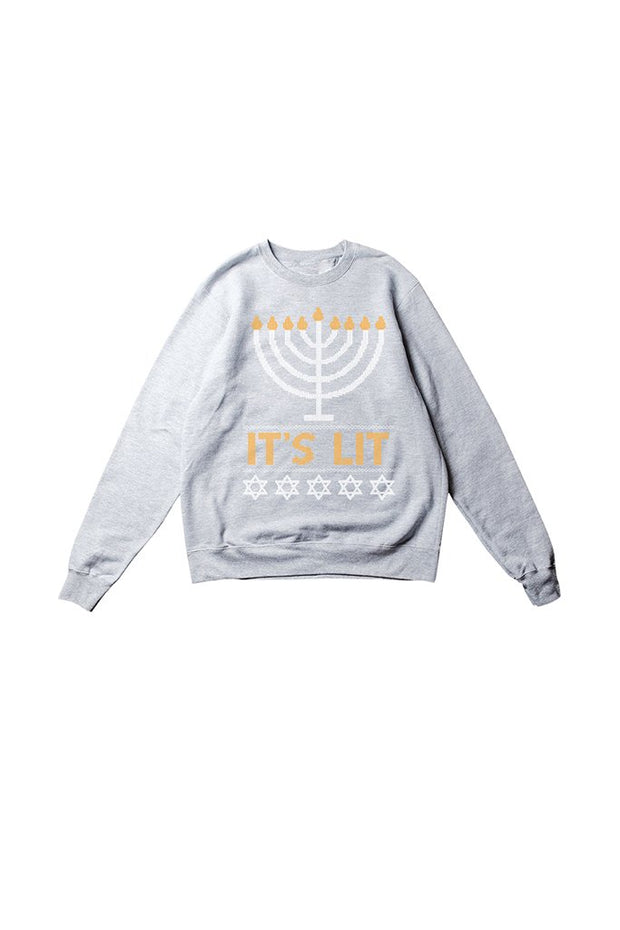 Women's Grey It's LIT Sweatshirt