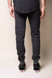 Onyx Marl Zipper Jogger Pants for men