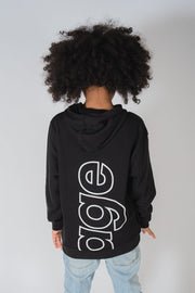 Boys Black Savage Verbiage Hoodie