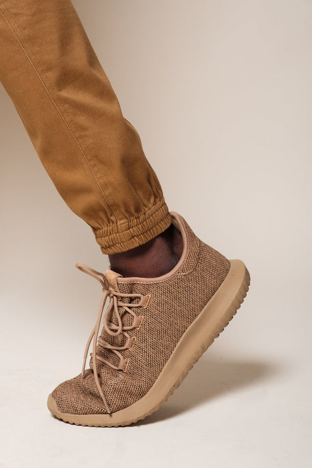 Tobacco Twill Jogger Pants
