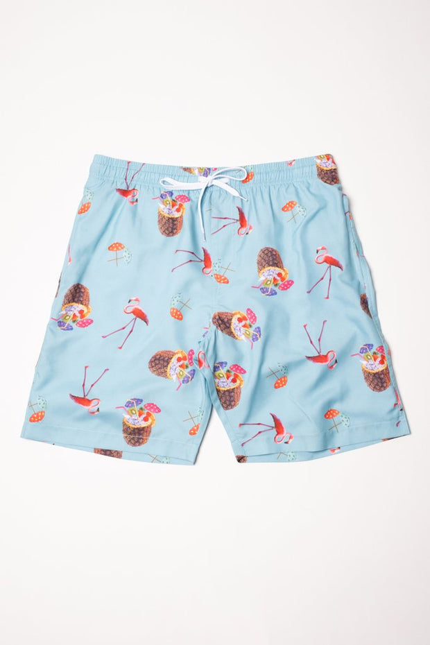 Tropical Theme Swim Trunks for Men