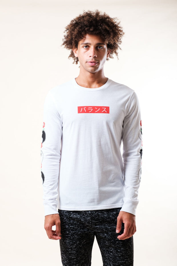 White Give Me A Sign Long Sleeve Tee