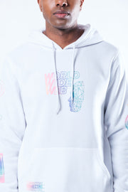White World Wide Web Iridescent Hoodie