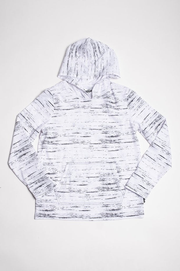 White Jersey Knit Hoodie