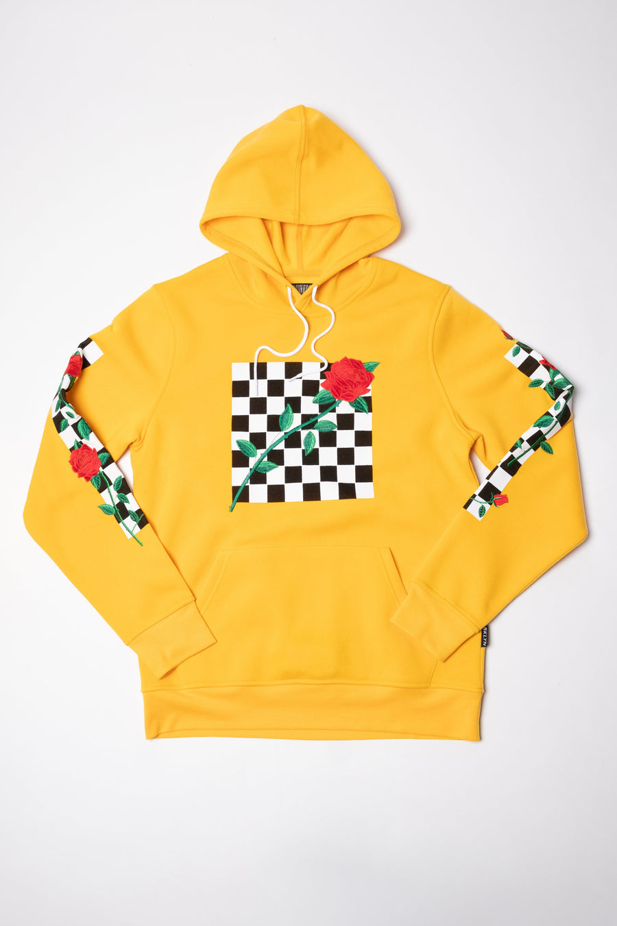 Yellow Rose Checkered Hoodie