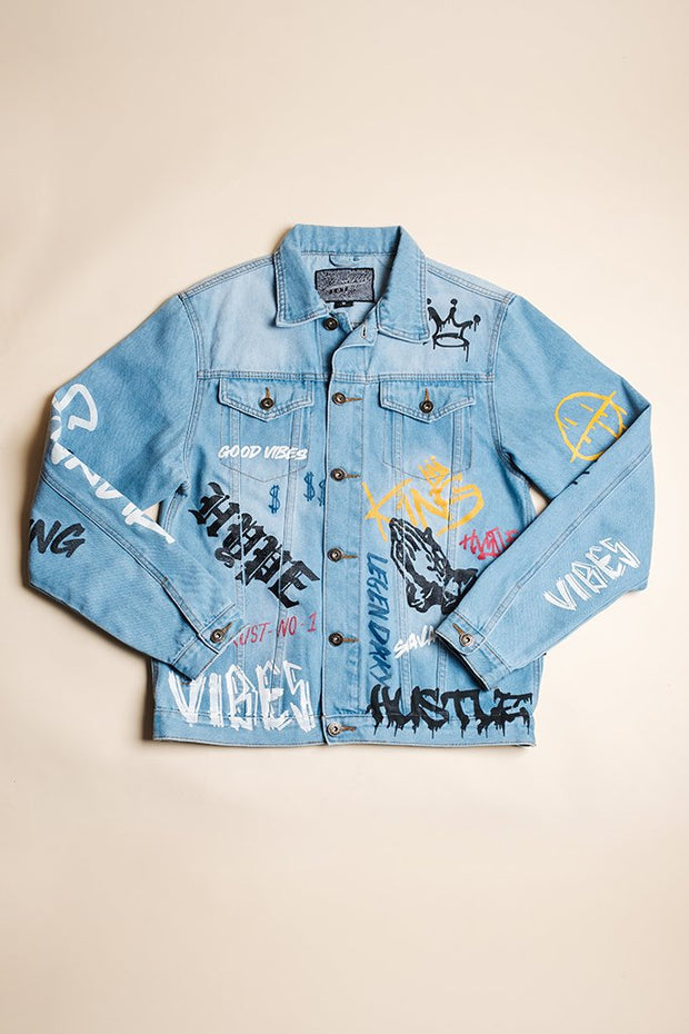 Brooklyn Graffiti Denim Jacket