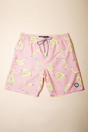 Banana Print Swim Trunks