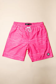 Pink Streaky Swim Trunks for Men