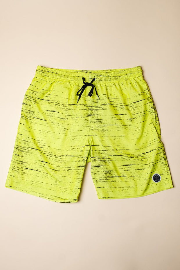 Yellow Streaky Swim Trunks for men