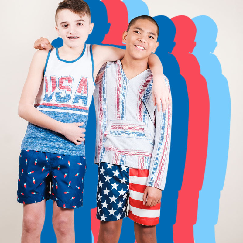 American Flag Print Collection for Boys by Brooklyn Cloth