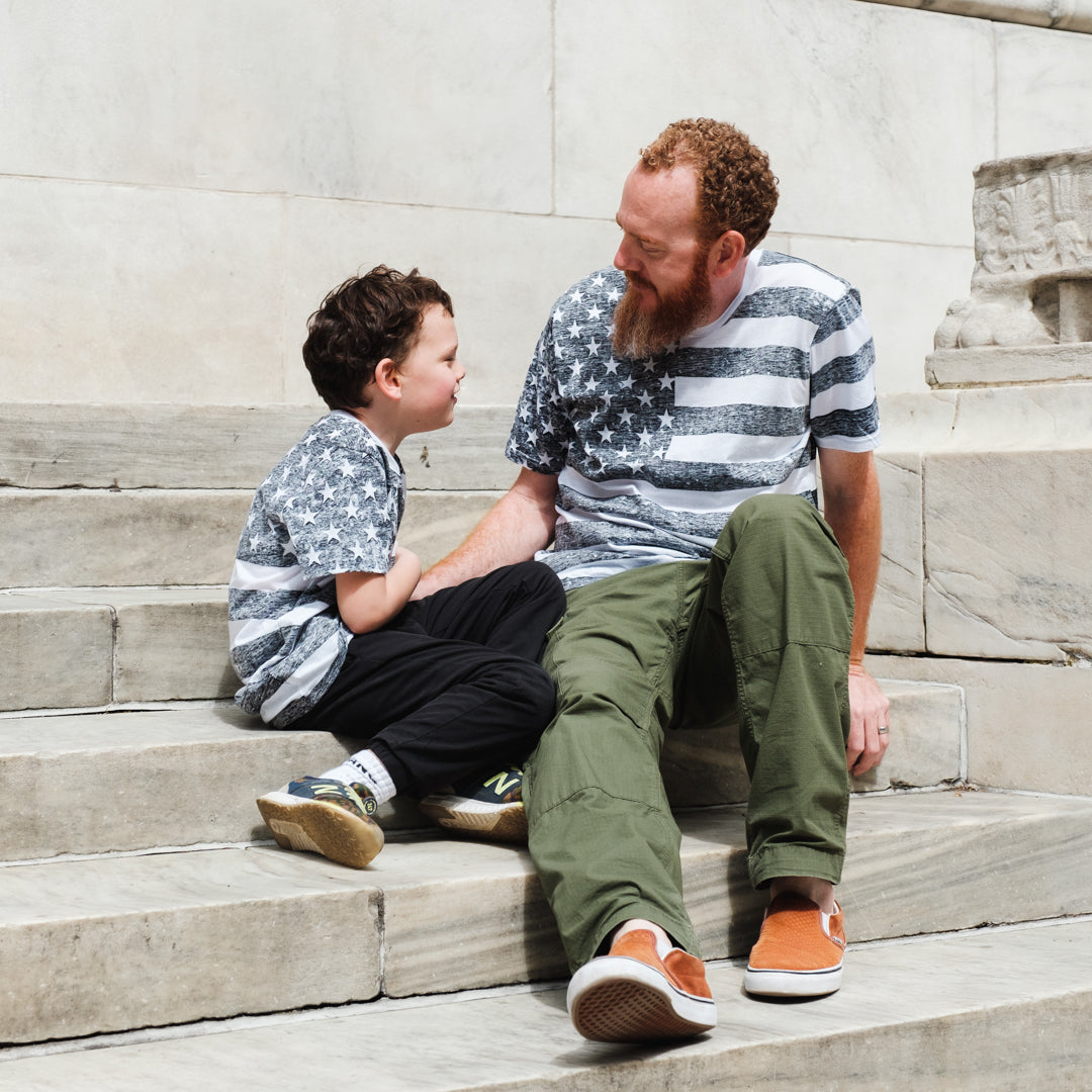 Matching clothing for Dad and Son