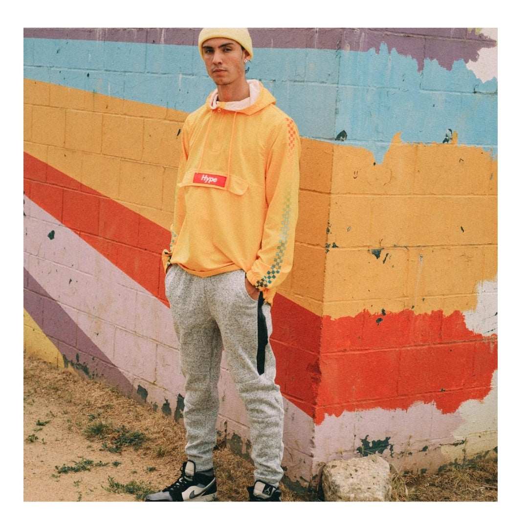 YELLOW HYPE ANORAK for men by Brooklyn Cloth