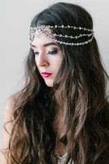'Evelyn' Bohemian Rhinestone Headpiece